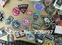 wholesale custom logo iron on embroidery badge fabric embroidered patch 200pcs /lot(China)