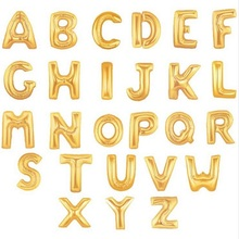 Gold Alphabet Letters Balloons Foil Balloon Birthday New Year party Wedding Decoration Balloon 16 inch GOLDEN(China)