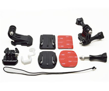 Safety starp+Curved/flat sticker+J Hook Mount+Buckle Mount+Long/short vertical hinge+Rubber lock+Screw for Gopro SJCAM YI GP109