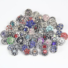 Buy newest 10pcs/lot Mix Rhinestone Snap Buttons Metal Decorative Buttons fit 12mm DIY Snap Bracelet Jewelry Making for $1.27 in AliExpress store