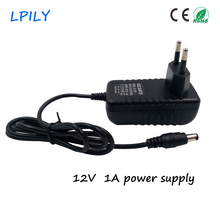 LPILY 12V 1A AC 110V-240V Power Adapter DC 12V 1A 1000mA Power Supply EU AU US UK Plug  5.5mm x 2.1~2.5mm for LED strip 2835