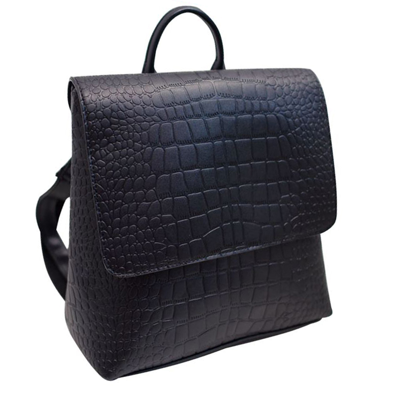 Designer Backpack Handsome Girl Shoulder Bag 2017 New PU Leather Square Alligator Women Backpack Solid Simple Schoolbag QT-21<br><br>Aliexpress