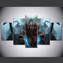 5 Pcs World Of Warcraft Blizzard Werewolf Warrior Game Poster HD Top-Rated Canvas Print Painting Paintings Home Decor IM-97