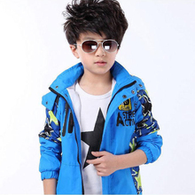 4-14 Years Kids Jackets for Boys Spring Autumn Windproof Waterproof Boys Coat 2017 New Camouflage Hooded Childrens Outerwear(China)