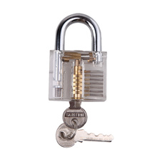 New Professional Lock picks Padlock LockPick Set Cutaway Inside View Padlock Locksmith for Locksmith Practice Training Skills