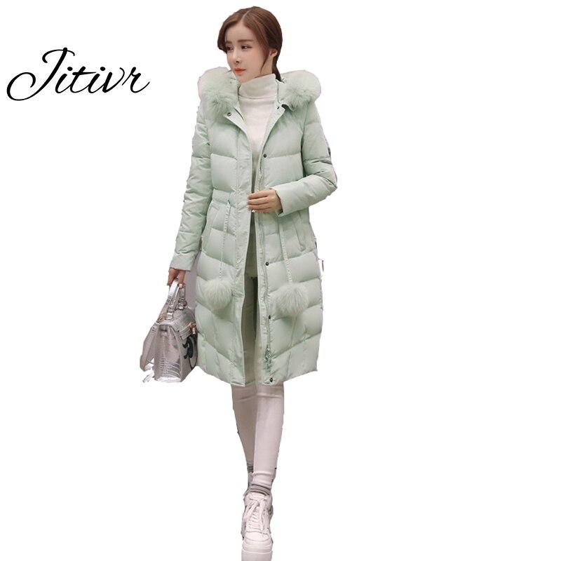 Newest Jitivr 2017  Winter Womens Cotton Clothing Slim Thick Clothes Solid Adjustable Cotton Padded Clothes Fashion Girl Coat Îäåæäà è àêñåññóàðû<br><br>