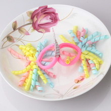1lot=2pcs Baby Hair Accessories Colorful Ribbon scrunchy Children Elastic Hair Ring Instant Noodles Shaped Ponytail Hair Band
