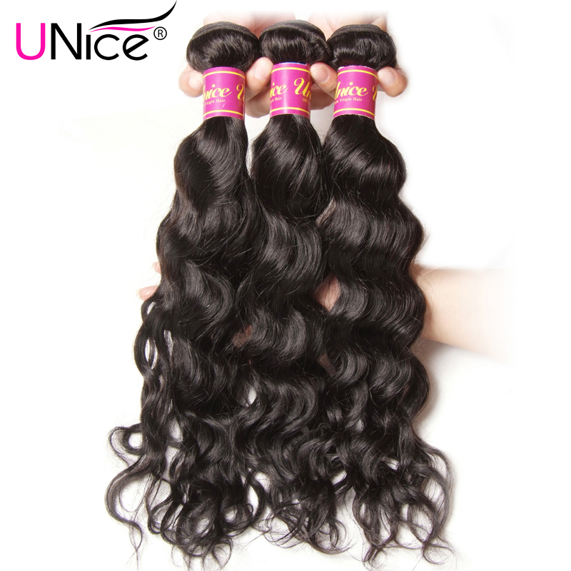 "UNice Hair Company Peruvian Water Wave Bundles 1 Piece 100% Human Hair Extension Non Remy Hair Weaves 8""-26"" Can Mix Any Length(China)"