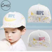 Baby Cute Banana Printed Baseball Cap Palm Kids Boys Girls Beanies Soft Cotton Caps Infant Causal Unisex Visors Sun Hat