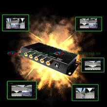 car camera quad control system box for rear left front right view camera All round view at the same time IR control