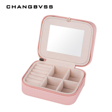 PU Leather Jewelry Casket Jewelery Accessories Packaging Box Jewelry Storage Case Travel Case Ring Earrings Necklace Storage Box(China)
