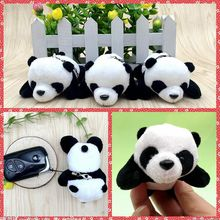 Free shipping One Piece China Panda Plush Keychain toys phone bag hangers Stuffed animals Kung kids birthday party fu gifts