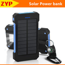 2016 Original ZYP Solar Power Bank Dual USB 10000mAh External Battery Portable Charger for iphone xiaomi Mobile phone powerbank