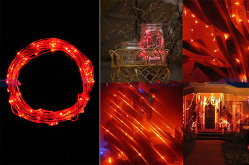 2M 5M Copper Wire LED String lights Battery Holiday LED Strip lighting For Fairy Christmas Tree Wedding Party Decoration lamp
