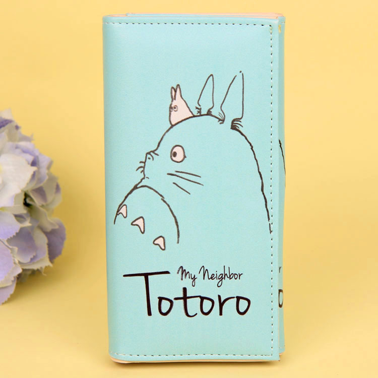 Cartoon My Neighbor Totoro Women Wallets PU Leather Students Wallet Cards Holder Women's Clutch Hasp Coin Purse Money Bags 10