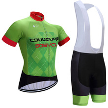 2017 team Pro cycling jersey bike shorts set Ropa Ciclismo breathable Green bicycling wear mens summer bike Maillot Culotte