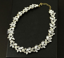 2014 new top  fashion full stone crystal necklace  12 pcs/lot