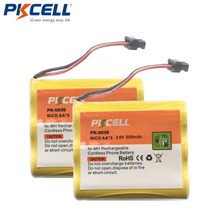 2 x 3.6V 800mAh NI-CD Phone Battery for Panasonic KX-A36 P-P501 Uniden BT-905 PKCELL
