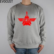 topgun top gun test combat aircraft logo men Sweatshirts Thick Combed Cotton(China)