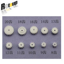Rotoup 10pcs Mini Motor Shaft Gear RC Smart Car Gears Parts Accessories 0.5 model 8T 9T 10T 11T 12T 13T 14T 16T 18T 20T #RBP036
