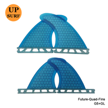 Future-Quad-Fins SUP Surfboard G5/GL Blue/Orange Honeycomb Fins Future Quad Quilhas In Surfing