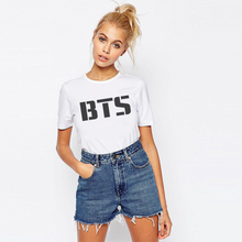 2017 new women's BTS summer Cartoon T-shirt South Korea bullet-proof youth group spent beautiful men fashion casual btsT shirt