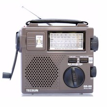 TECSUN GR-88 Digital FM\AM\SW Radio Receiver Built-In Speaker Manual Hand Power Generation Radio Emergency Light Dynamo Radio^