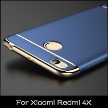 HangRui Redmi 4X Case 5.0inch For Xiaomi Redmi 4X Case Hard PC Plating 3in1 Full Cover Case For Xiaomi Redmi 4X Fundas redmi 4 X