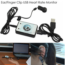 Infrared Ear/Finger Sensor USB Heart Rate Monitor, Pulse USB Key With Heart Rate Variability RR Interval Wholsale(China)