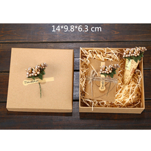 DIY Gift Kraft Paper Box Gift Box For Wedding Favors Birthday Party Candy Cookies Christmas Party gift ideas Box P20(China)