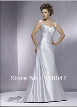 Silver Wedding Dresses Custom Make Western Corset A line Chapel Train Simple Style Factory Made to Order