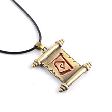Classic PVP Game DOTA2 Accessories Necklace Jewelry Wholesale Vintage The Elder Scrolls Transfer Reel Alloy Pendant Necklace(China)