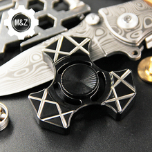 R188 CNC Hunting Axe 8MM EDC Fidget Spinner Stainless Steel EDC Toys Hand Spinner Spinning Top Anti Stress Toys Gift