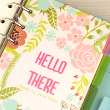Blooming Flower PP Dividers for Spiral Notebook Transparent Separator Page Index Paper Core for Agenda Planner Organizer A5A6