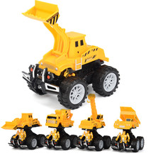 One Piece Inertial Engineering Vehicle Car Toy Plastic ABS Diecasts & Toy Vehicles Car Model Construction Crane Toys for Boys(China)