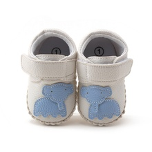 0-18M Baby Boy Girls Spring Cute Cartoon Pattern Soft Sole PU Leather Infant Toddler Crib New Shoes(China)