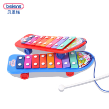 Beiens Kids 8-Note Plastic Musical Toys Skateboarding Knock piano Early Educational Development Music Instrument Baby Toys Gift(China)