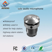 SIZHENG COTT-S8 Bolt type waterproof outdoor audio microphone CCTV sound pickup for security cameras
