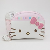 Hello kitty card holder shop cheap hello kitty card holder from free shipping character business card holder women zipper wallet high quality pu white and pink hello reheart Images