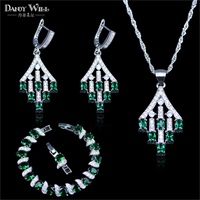 Classic Water Drop Purple Zircon Women's 925 Sterling Silver Jewelry Sets Earrings/Pendant/Necklace/Bracelets