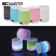 Mini MP3 Music Player Wireless Speaker Portable Mini Rechargeable Speaker LED Light Crack Support TF Card MP3 Player Gift