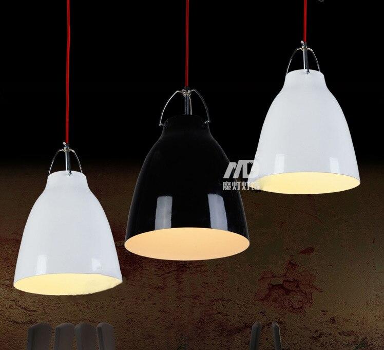 Loft  Vintage Droplight  Aluminium Black White  Restaurant Coffee Bar Coffee  Pendant  Lamp<br>