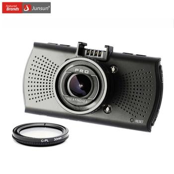 Junsun superior a12 cámara del coche dvr de ambarella fhd 2560*1440 p grabador de vídeo gps logger registrador dvr dashcam cpl filtro polarizador