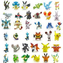 48pcs Pokeball Pikachu 2-3cm Different Style Mini Cartoon Figure Pocket Monster Toys Mixed Orders Free Shippinng