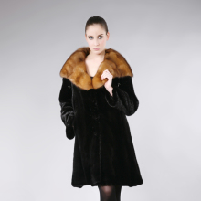 Plus size bust 102cm Fashion Ladies' Mink garment,Noble high quality Genuine Mink coat fur overcoat winter coat FPD114