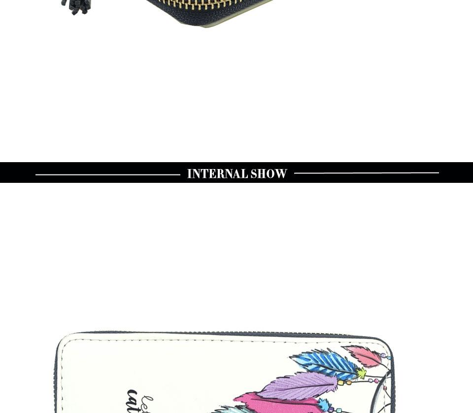 HTB1eS85RFXXXXcuaXXXq6xXFXXXY - TZECHO Women Wallets PU Print Dream Catcher Carton Long Ladies Purses Coin Pocket Card Holder Clutch Zipper Wallets for Women