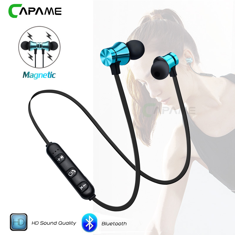Wireless Headphone Bluetooth Earphone Magnetic Headset Neckband Sport Running Bluetooth Earphones For iPhone 7 X Xiaomi Earphone(China)