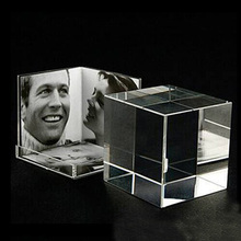 3-side Desktop Clear Acrylic Picture Photo Cube for Multi Photos PF033