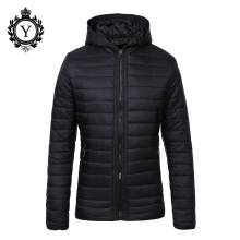 COUTUDI New Arrival Mens Down Coats OEM Winter Casual Coats and Jackets Hoody Waterproof Solid Black Warm Man Coat High Quality