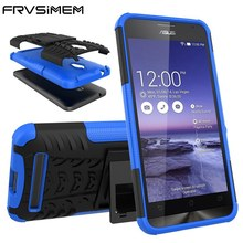FRVSIMEM Heavy Duty Armor Cover For ASUS Zenfone 3 Max ZC520TL Laser ZC553KL 2 GO ZC500TG ZC451TG Case Stand Phone Cases(China)